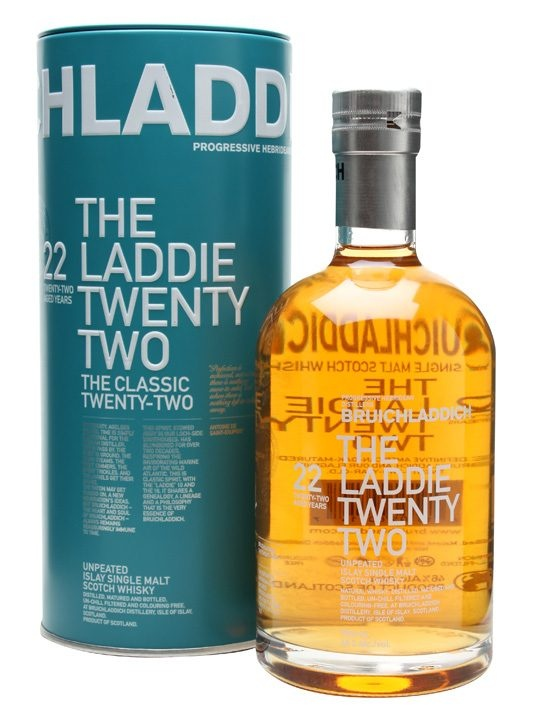 Bruichladdich Laddie 22 Year Old : Buy Online - The Whisky Exchange - A combination of classic and new Bruichladdich, at release the oldest in the distillery's revitalised range of unpeated Islay whiskies.