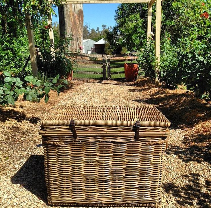 This looks like a lovely spot to spend a Friday! You'll find our Vintage Rattan Storage Trunk at RG Imports stockist, Frank and Bernie. www.rgimports.com.au