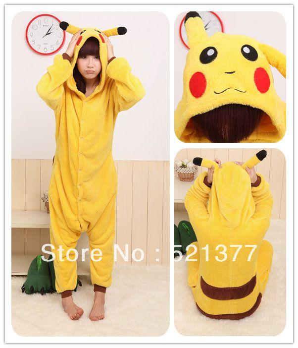 Free Shopping Cute Animal Onsie Pyjama Unisex Adult Kigurumi Jumpsuit Pikachu Costume pijama-in Pajama Sets from Apparel & Accessories on Al...