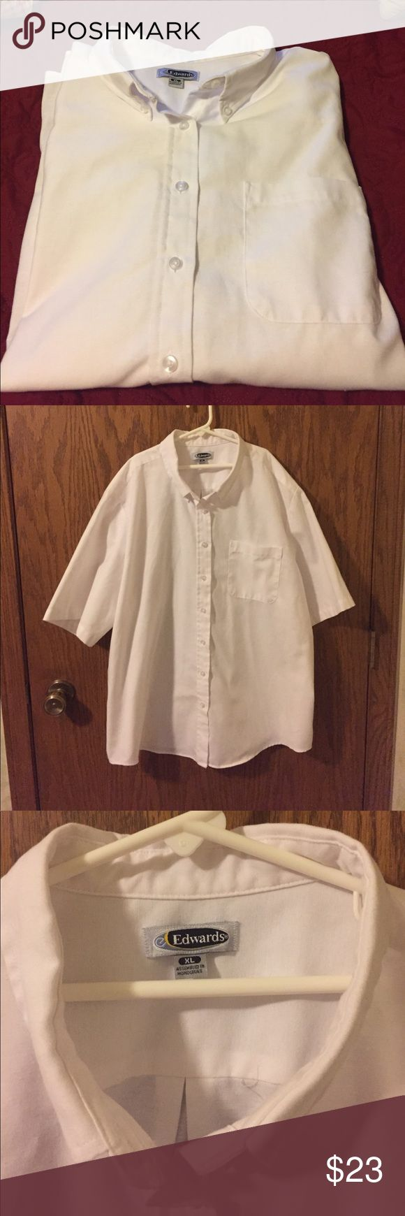 White Oxford Shirt Button down & short-sleeve shirt Edwards Shirts Dress Shirts