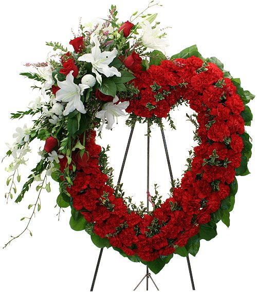 Image detail for -Heart of Love - Funeral Wreaths and Crosses