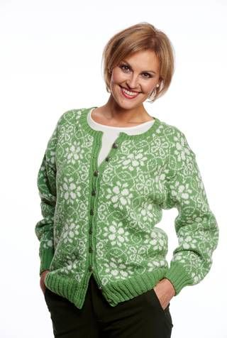 norweigan knitted flower cardigan