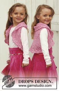"Crochet DROPS bolero in ""Muskat"". Size 3 - 12 years. ~ DROPS Design"