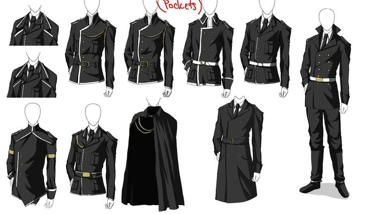 Uniforms set 2 by V3rc4.deviantart.com on @DeviantArt