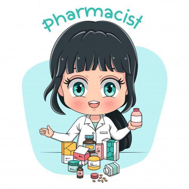 Pharmacist Character Pharmacy Art Medical Wallpaper Pharmacist Cool cartoon student images wallpaper