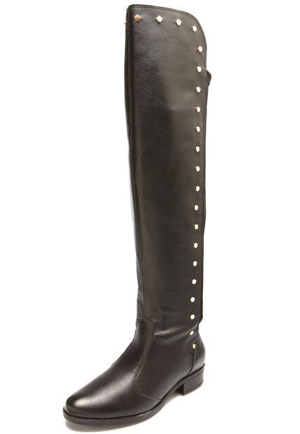 24488f62ec Bota Over The Knee Vizzano Tachas Preta - Marca Vizzano
