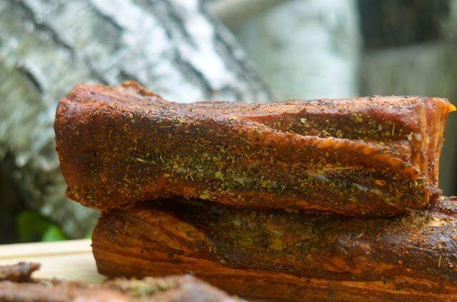 Kulinarne  pyszności  Molki: Boczek wędzony podpiekany