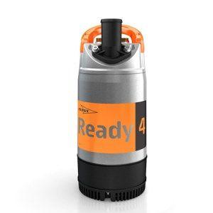 Faites face aux inondations avec la pompe submersible Ready 4. Convient également pour l'assèchement, l'épuisement, le traitement des eaux chargées contenant du sable, graviers...