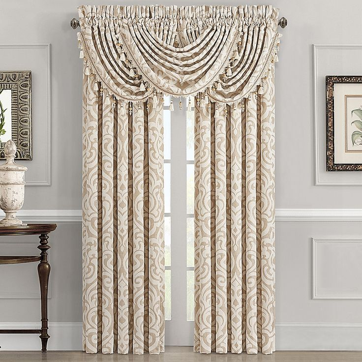J Queen New York Milano 2 Pack 84 Inch Rod Pocket Window Curtain In Sand Bed Bath Beyond J Queen New York Bed Bath And Beyond Queens New York