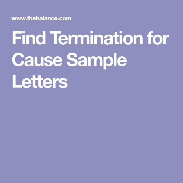 Find Termination for Cause Sample Letters
