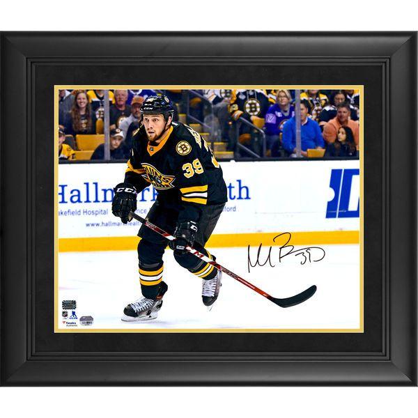 "Matt Beleskey Boston Bruins Fanatics Authentic Framed Autographed 16"" x 20"" Black Jersey Horizontal Skating Photograph - $144.99"