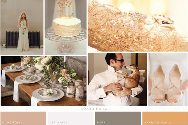 Be inspired with this week's gorgeous rose, peach and mink wedding inspiration board by Rosy and Ruby Paper Company | Bridal Musings Wedding Blog