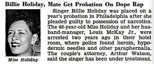 Billie Holiday and Louis McKay, Jr Get Probation on Narcotics Charge - Jet Magazine, March 27, 1958   Flickr - Photo Sharing!