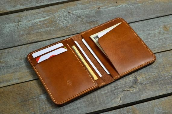 af9d9315c97f We made this Bifold Wallet from Wickett & Craig Leather in Buck Brown color.  It is vegetable-tanned leather. After a couple months of use this leather  will ...