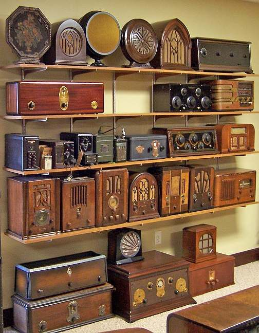 ∷ Variations on a Theme ∷ Collection of Antique radios