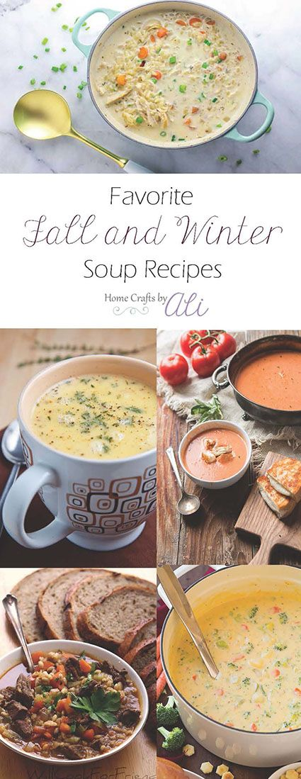 Favorite Fall and Winter Soup Recipes - 15+ delicious soups that will keep you warm on cold evenings