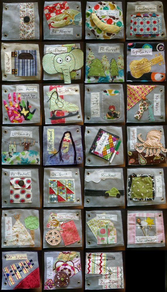 Fabric alphabet quiet book - if I manage to make this, I give myself permission to buy that rivit gun thing!