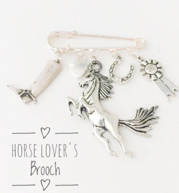 Horse Lovers Brooch, Gift for Horse Lover, Horse brooch, Pony, Horse, Rosette, Horseshoe, Mothers Day Gift, Gift Idea, UK https://www.etsy.com/listing/516265143/horse-lovers-brooch-gift-for-horse-lover?utm_campaign=crowdfire&utm_content=crowdfire&utm_medium=social&utm_source=pinterest