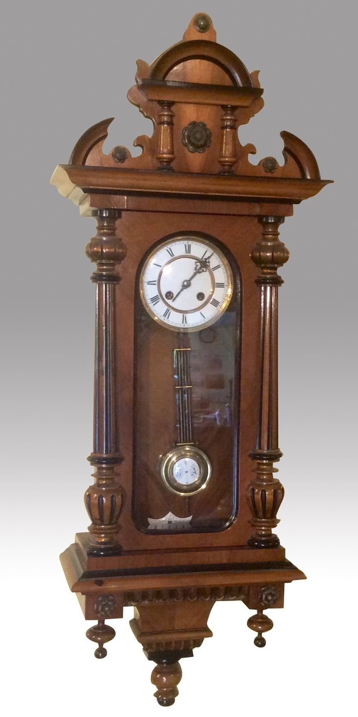 Stunning Quality Antique Victorian Spring Vienna Wall Clock (c ...