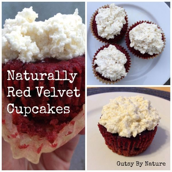 Naturally Red Velvet Cupcakes (Grain Free, Dairy Free, Nut Free)
