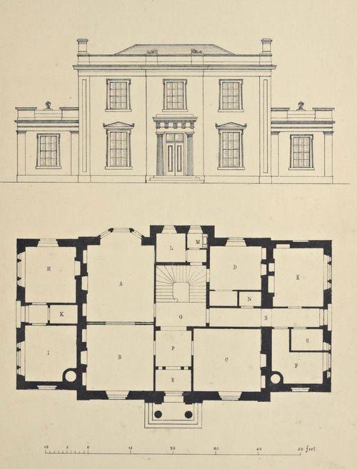 Design for a country estate, England