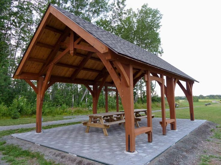 79 best images about pavilions and pergolas on pinterest for A frame shelter plans