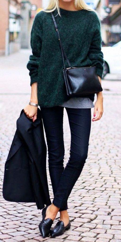 Comment porter le vert bouteille   - Bien habillée   Mode - Cuir et ... 266de79cb13c