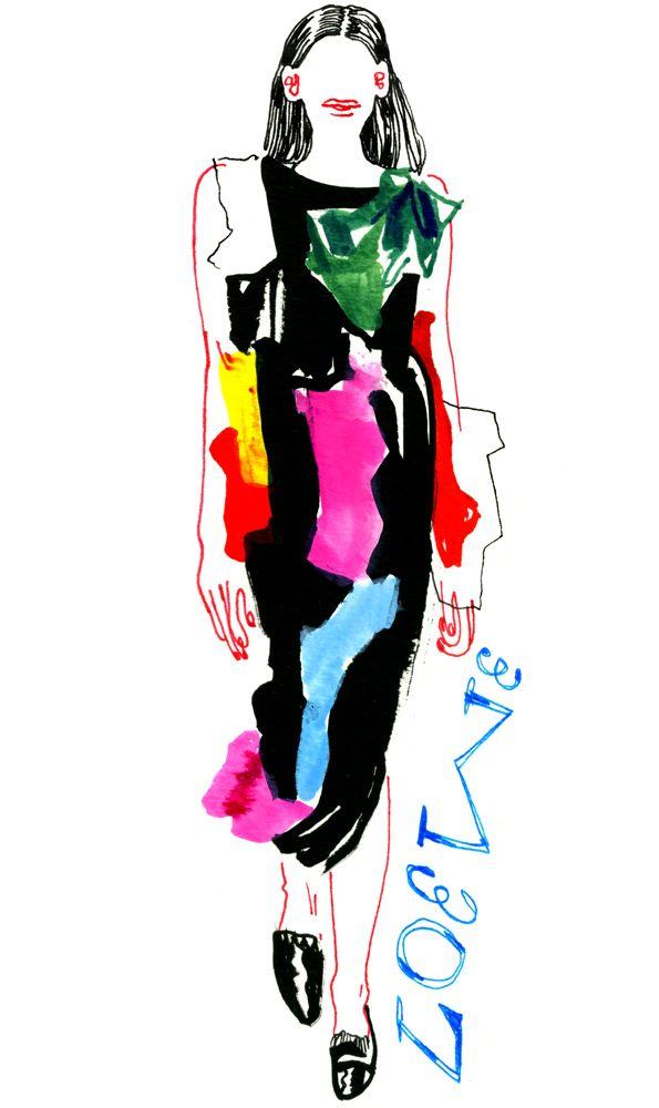 Illustration by Lauren Tamaki / Loewe S/S 15. Chic scraps.