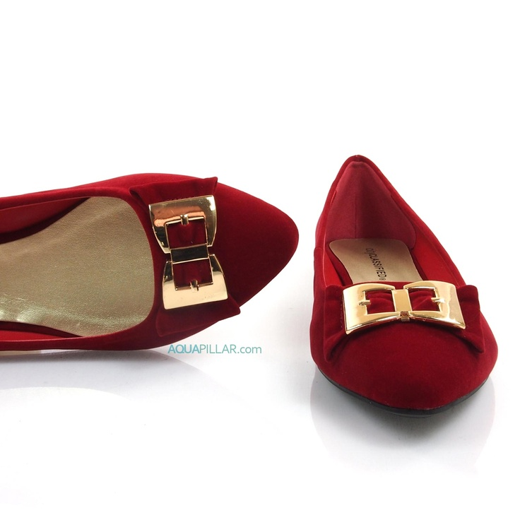 Kodey Burgundy Almond Toe Flat Women Shoes