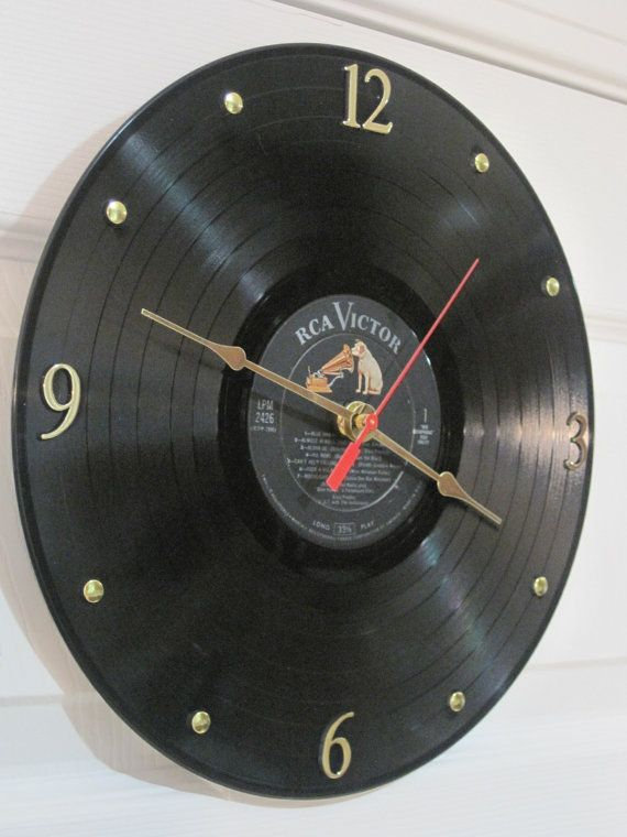 CLOCK made from an LP Record