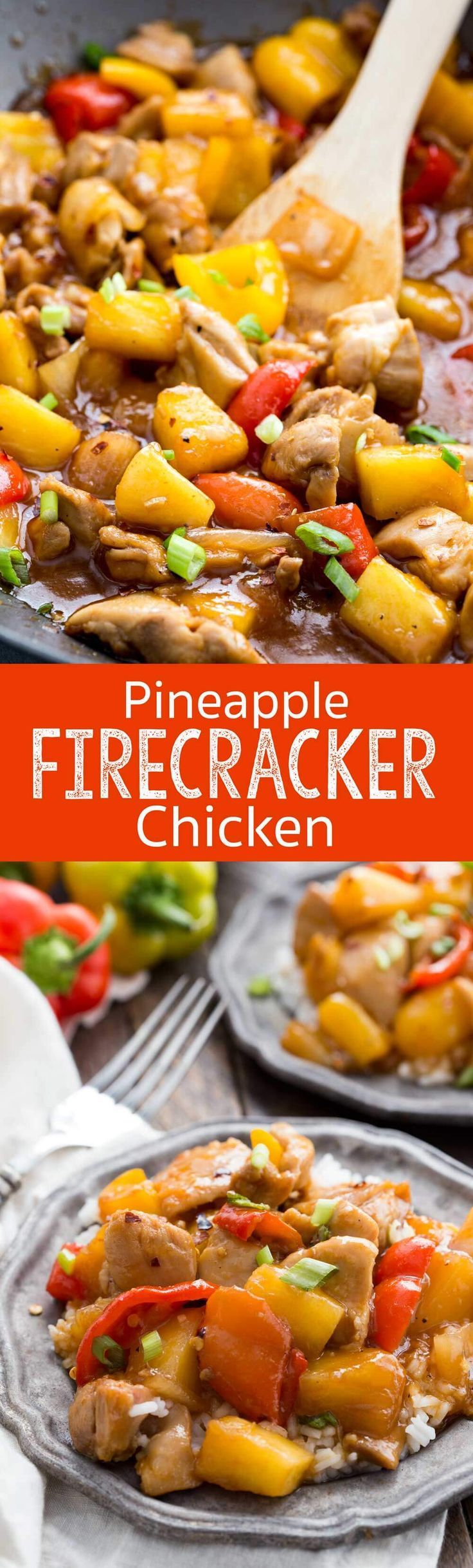 Pineapple Firecracker Chicken is a tantalizing chicken dinner with tender chicken, sweet pineapple and a finger licking sauce! #ad #DoleFrozenFruit #DisasterAverted - Eazy Peazy Mealz