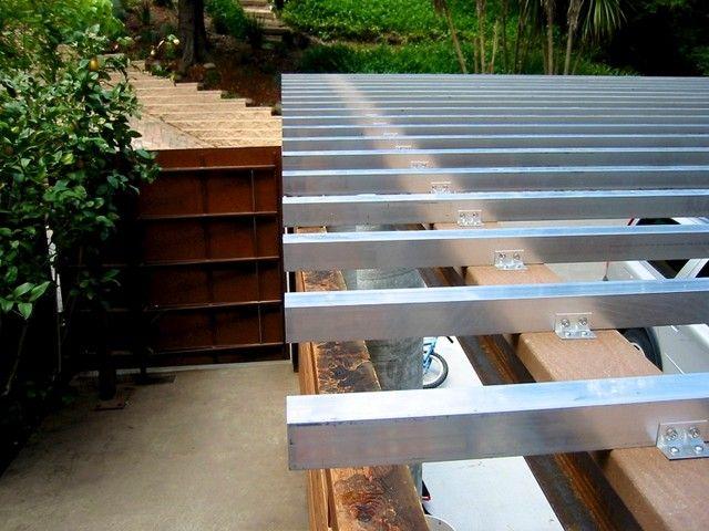 Modern Patio Carport : Modern aluminum pergola for alluring styles stunning