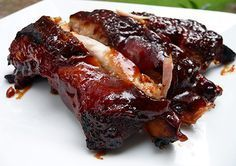 Sweet Baby Ray's Slow-Cooker Ribs... Never in your wildest dreams would you ever believe that ribs this good could come from a slow cooker! Cooked in Dr. Pepper and slathered with Sweet Baby Ray's sauce, these might be the best ribs we've ever eaten!