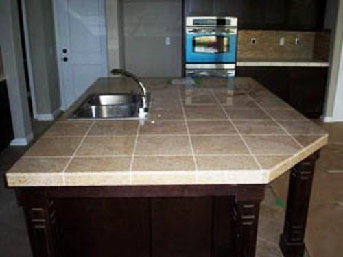 41 best kitchen countertop ideas images on pinterest - Ceramic tile bathroom countertops ...