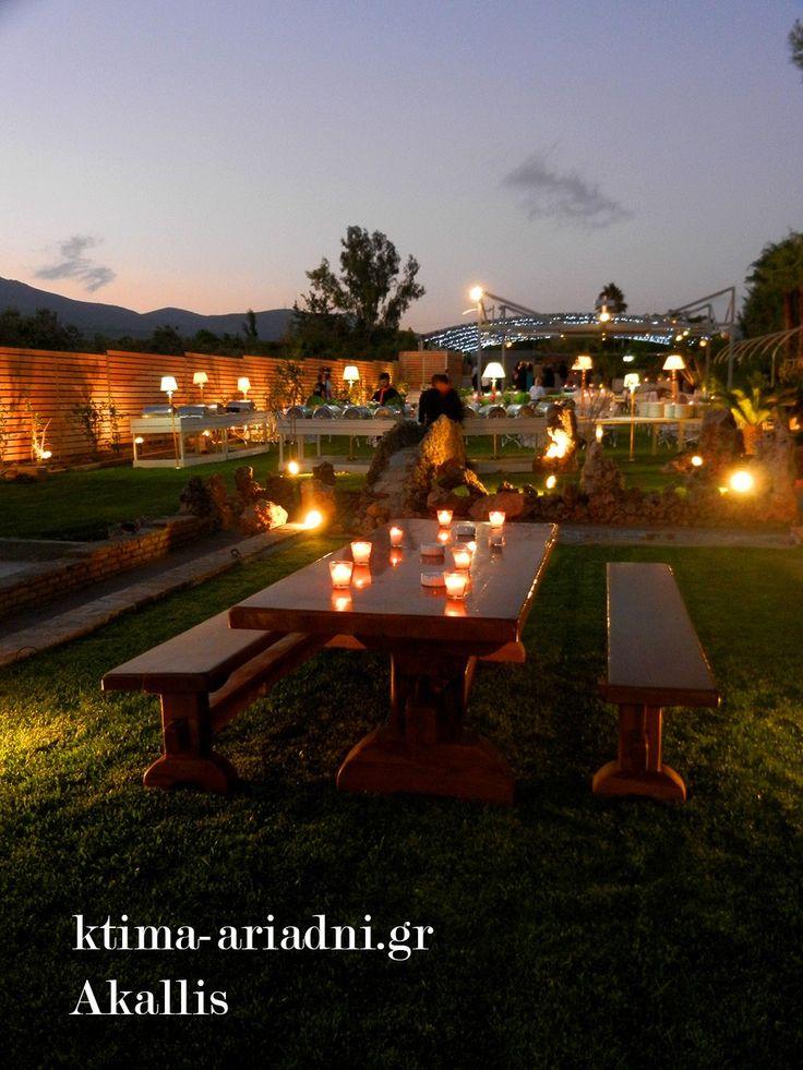 Δεξίωση γάμου στον κήπο του Akallis