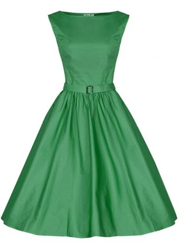 Belted Round Neck Green Vintage A Line Dress with cheap wholesale price, buy Belted Round Neck Green Vintage A Line Dress at rotita.com !