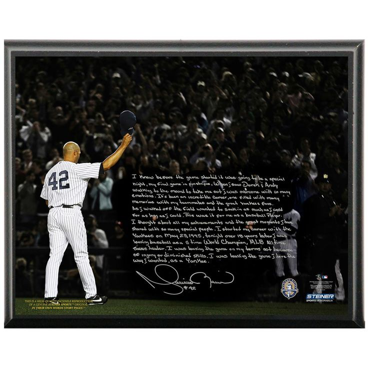 Mariano Rivera Facsimile Last Game in Pinstripes Metallic 8x10 Story Plaque