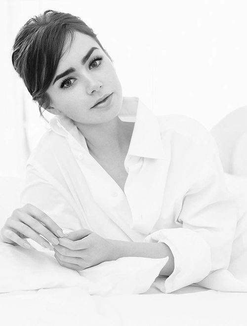 Character inspiration: Lily Collins -- kinda reminds me of Audrey Hepburn