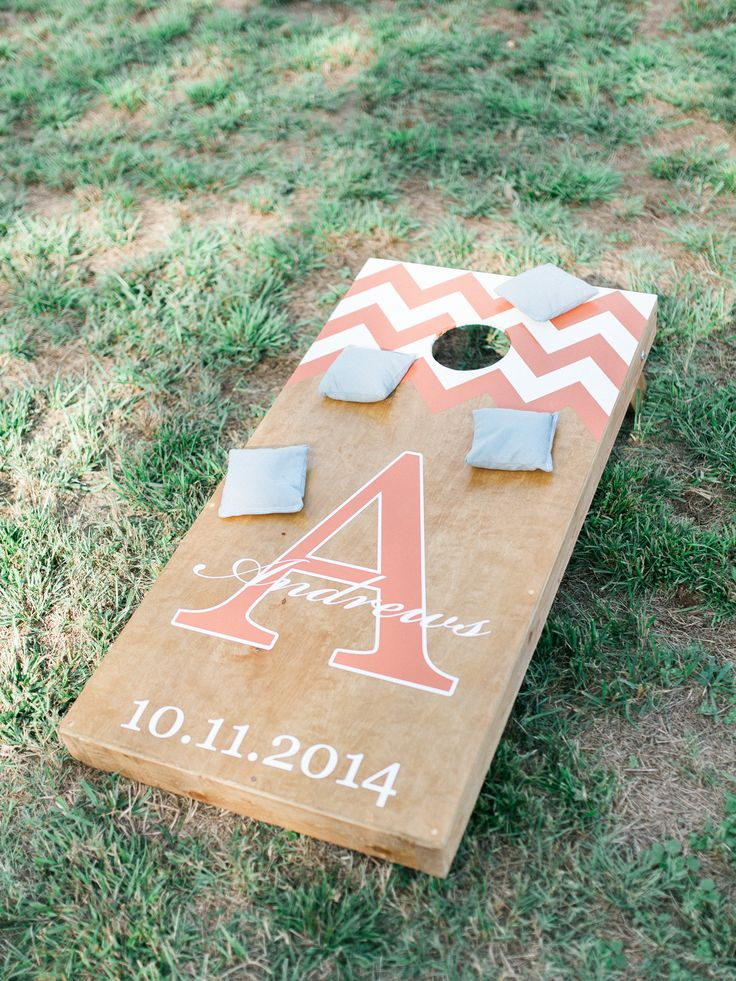 #wedding #cornhole made by the groom for his bride! Beautiful!