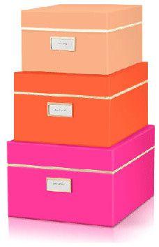 Kate Spade Neon Nesting Boxes contemporary-desk-accessories