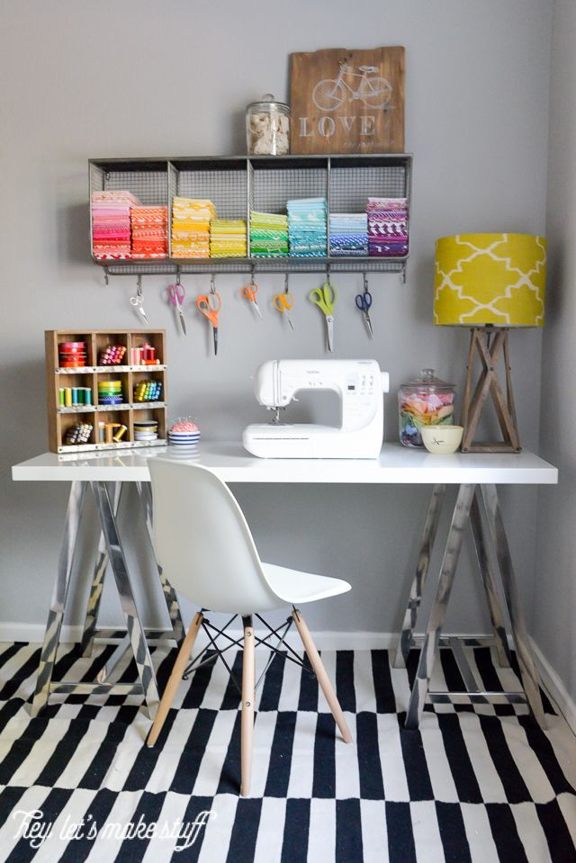 Took my boring sewing space and made it bright and fun, thanks to @worldmarket! Loving all the fun details to showcase my space. #SpruceUpYourSpace #ad #WorldMarketTribe