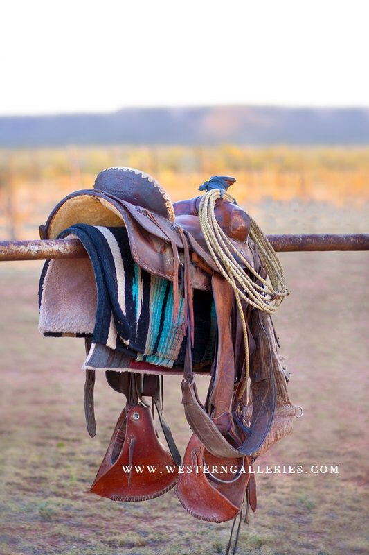 Cowboy Saddle Signed Fine Art Wall Decor Print, New Mexico Western Original, Photography, Horses, Tack, Saddles, Ranch, for Home Office by WesternGalleries on Etsy https://www.etsy.com/listing/213663566/cowboy-saddle-signed-fine-art-wall-decor
