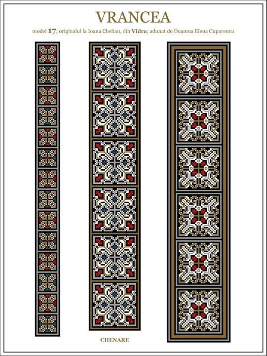 Iie (traditional romanian blouse) from Vrancea (Vidra) embroidery pattern