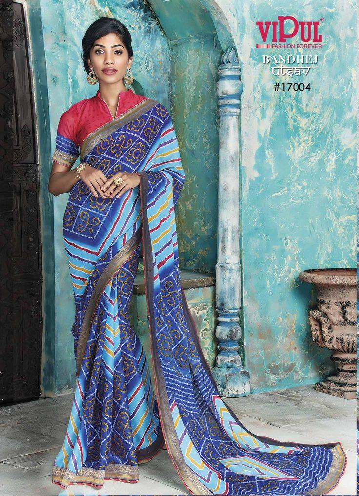 #VipulFashions #FashionForever #Fashion #saree #sari #Bandhej #Utsav #Catalog