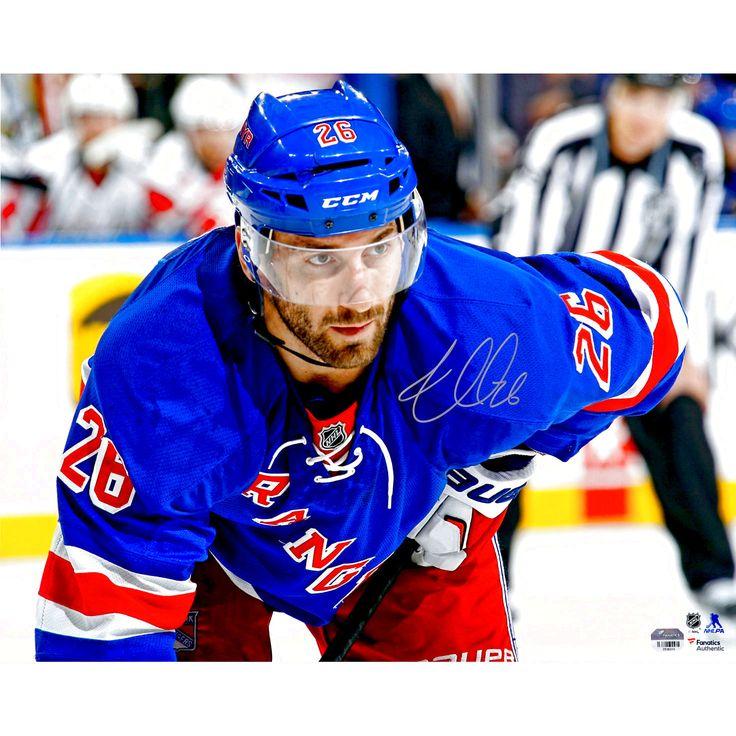"Jarret Stoll New York Rangers Fanatics Authentic Autographed 16"" x 20"" Blue Jersey Close-Up Photograph - $18.99"