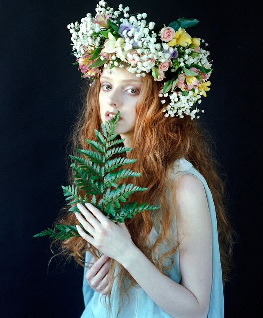 ❀ Flower Maiden Fantasy ❀ beautiful photography of women and flowers - by Elizaveta Musienko, via Flickr
