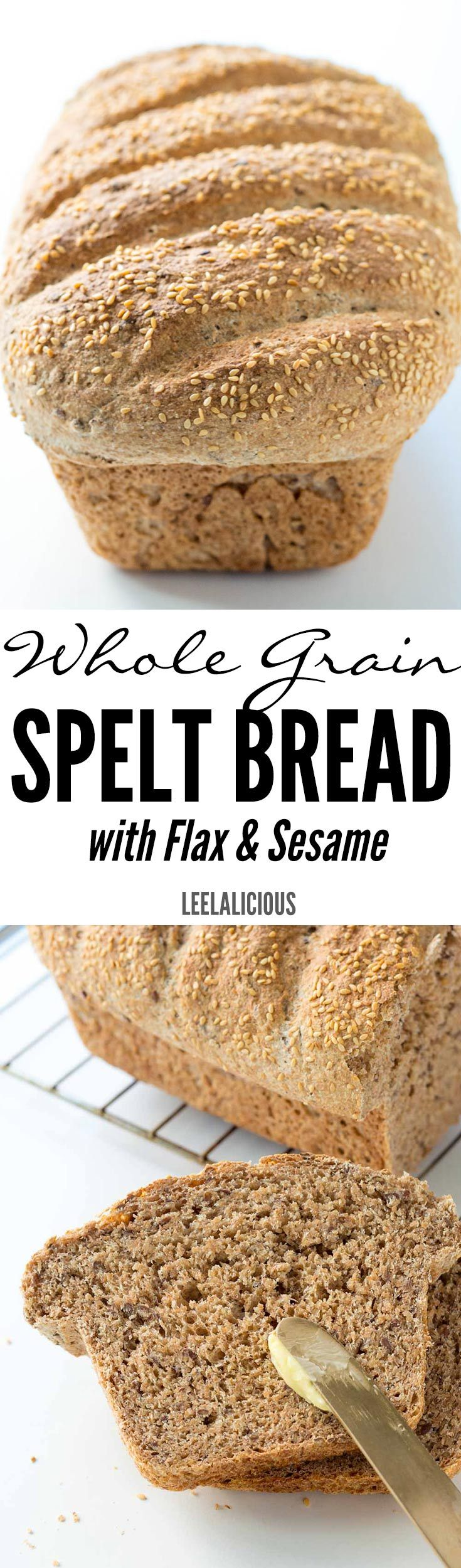 This nutritious Whole Grain Spelt Bread Recipe with flax and sesame seeds is super easy to make. It is also much better and more economical than store bought bread.(Baking Bread Recipes)