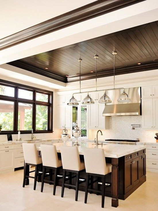 Tuthill architecture kitchens restoration hardware Shiplap tray ceiling