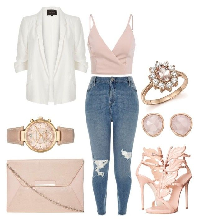 """Untitled #113"" by b-lee25 ❤ liked on Polyvore featuring Giuseppe Zanotti, River Island, Dorothy Perkins, Monica Vinader, Bloomingdale's and Michael Kors"