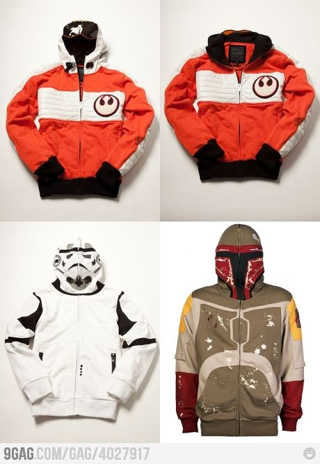 can I have each of these? plus the chewwy reversible jacket I already posted? who wouldn't want these star wars hoodies?!